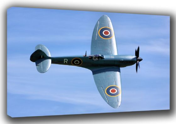 Spitfire Military Aircaft/Aviation Canvas. Sizes: A3/A2/A1 (003485)
